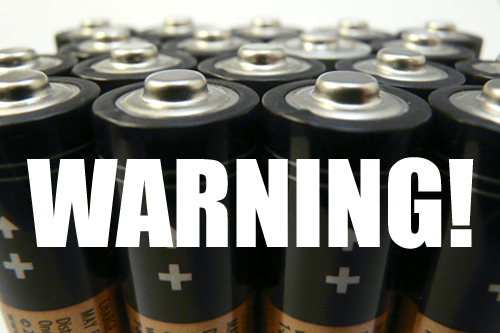 Battery Warning Label
